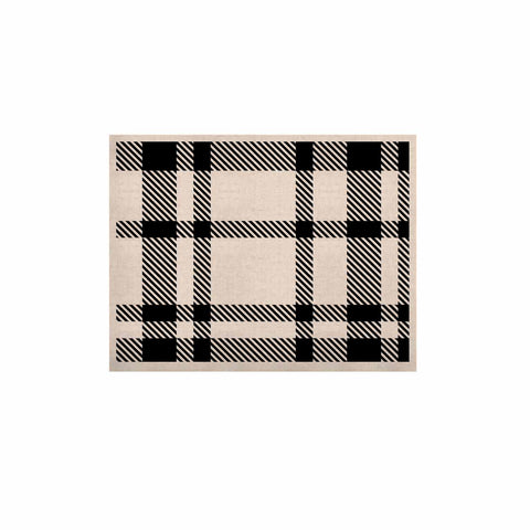 "KESS Original ""Night and Day"" White Black Plaid Pattern KESS Naturals Canvas (Frame not Included)"