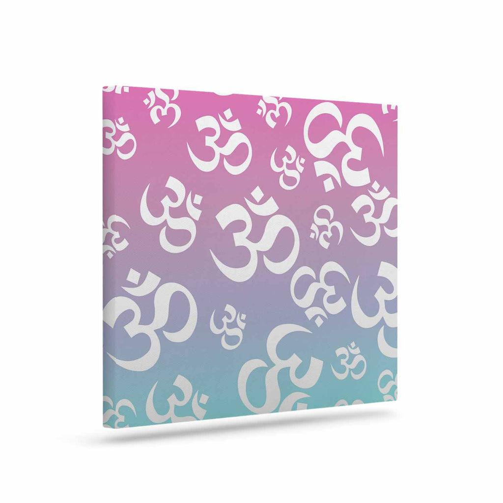 "KESS Original ""OHM My Pastels"" Pink Aqua Canvas Art - KESS InHouse  - 1"