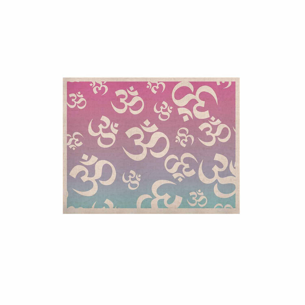 "KESS Original ""OHM My Pastels"" Pink Aqua KESS Naturals Canvas (Frame not Included) - KESS InHouse  - 1"