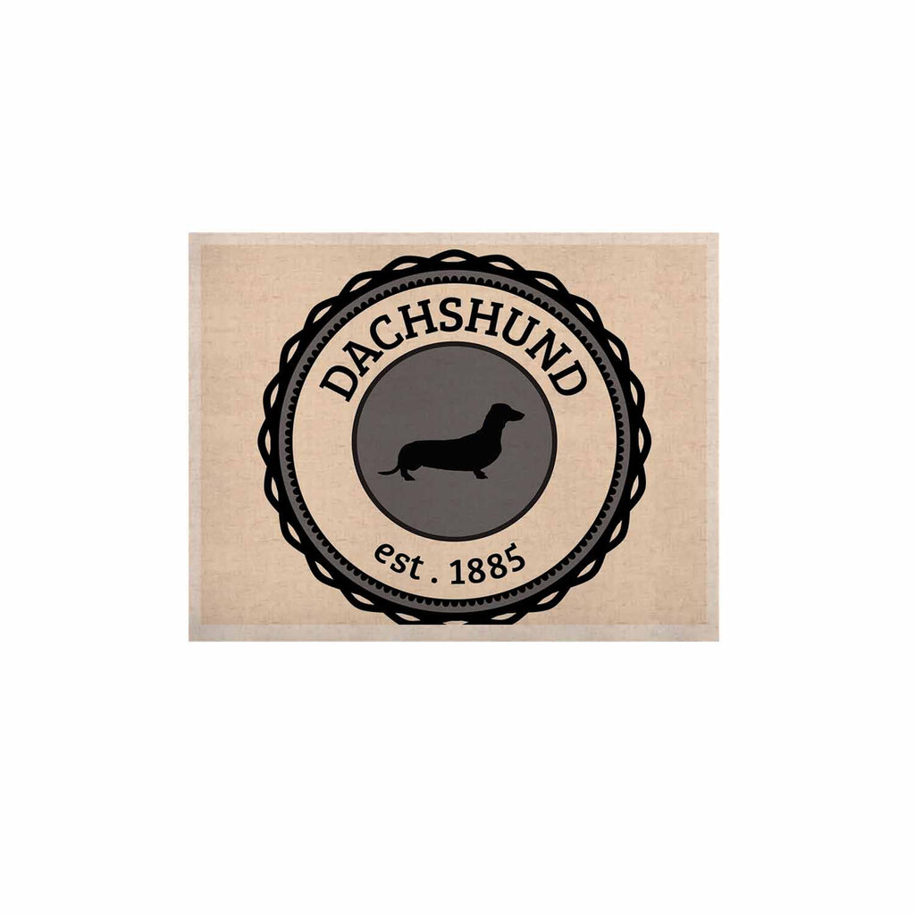 "KESS Original ""Dachshund"" Beige Black KESS Naturals Canvas (Frame not Included) - KESS InHouse  - 1"