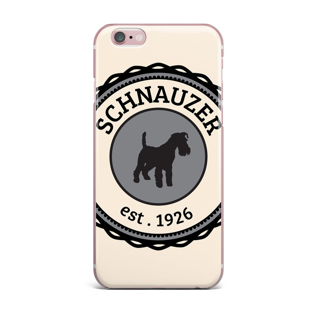 "KESS Original ""Schnauzer"" Beige Black iPhone Case - KESS InHouse"
