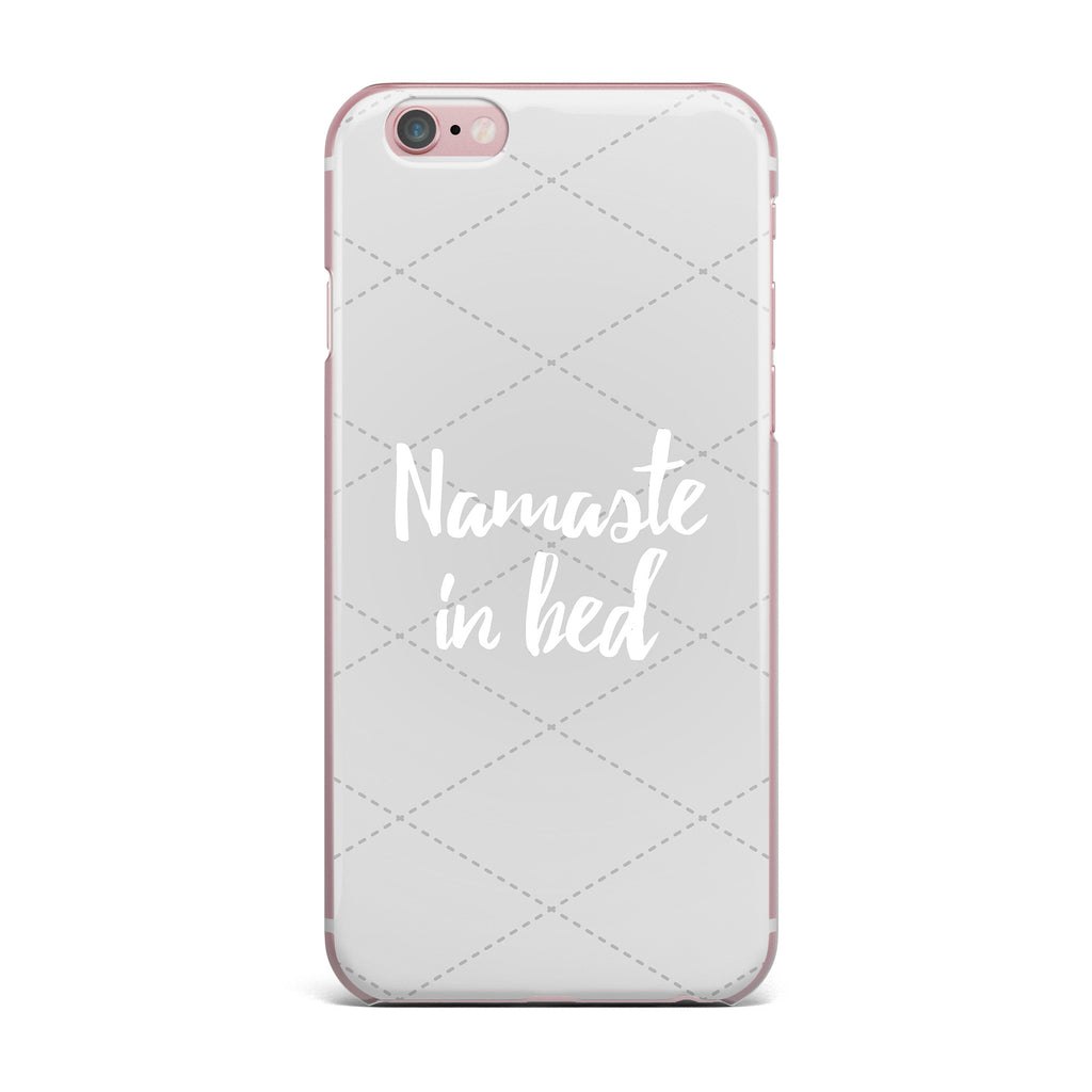 "KESS Original ""Namaste In Bed Grey"" White Gray iPhone Case - KESS InHouse"