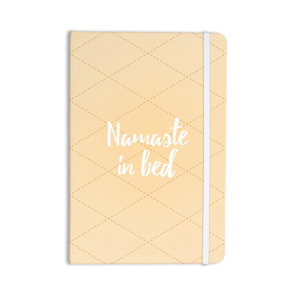 "KESS Original ""Namaste In Bed Yellow"" Tan White Everything Notebook - KESS InHouse  - 1"