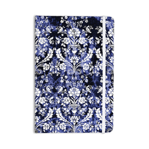 "KESS Original ""Baroque Blue Velvet"" Abstract Floral Everything Notebook - KESS InHouse  - 1"