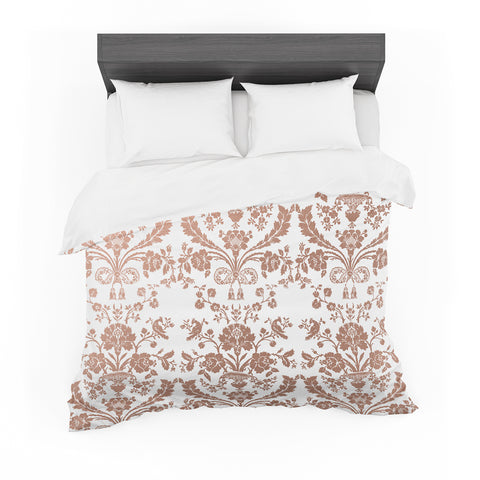 "Kess Original ""Baroque Rose Gold"" Abstract Pink Pattern Featherweight Duvet Cover - Outlet Item"
