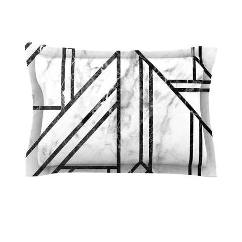 "KESS Original ""Black Marble Mosaic"" Geometric Modern Pillow Sham - Outlet Item"