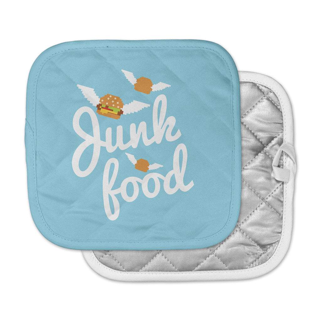 "KESS Original ""Junk Food"" Burger Blue Pot Holder"