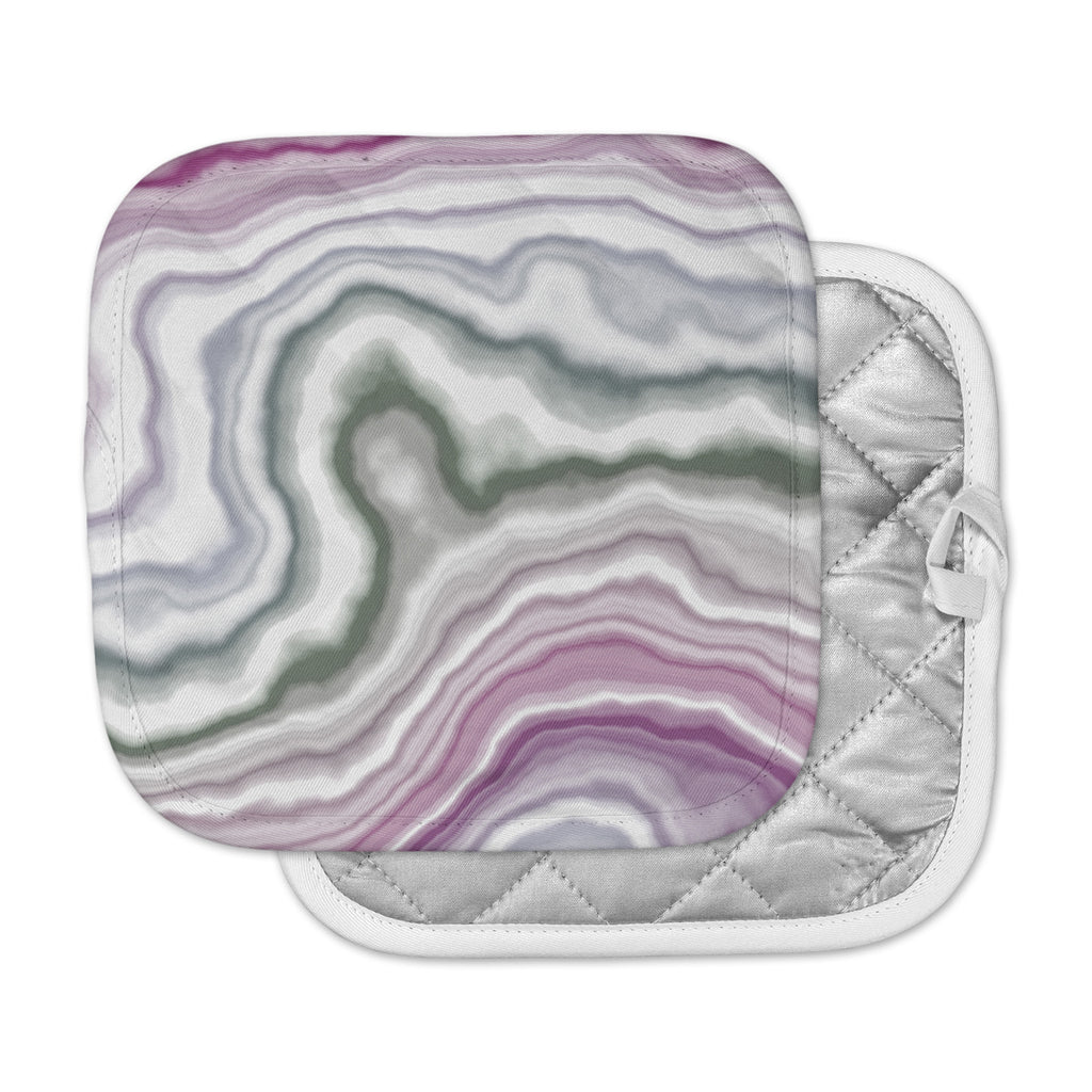 "KESS Original ""Wild Boysenberry"" Geological Purple Pot Holder"