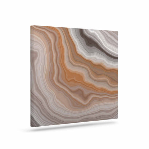 "KESS Original ""Burnt"" Orange Geological Canvas Art - Outlet Item"