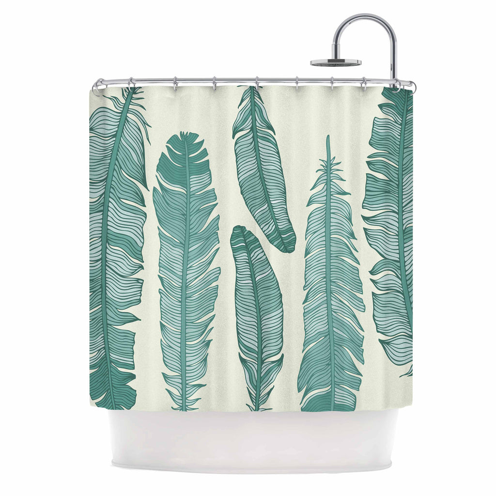 Balsam Feathers Shower Curtain By KESS Original