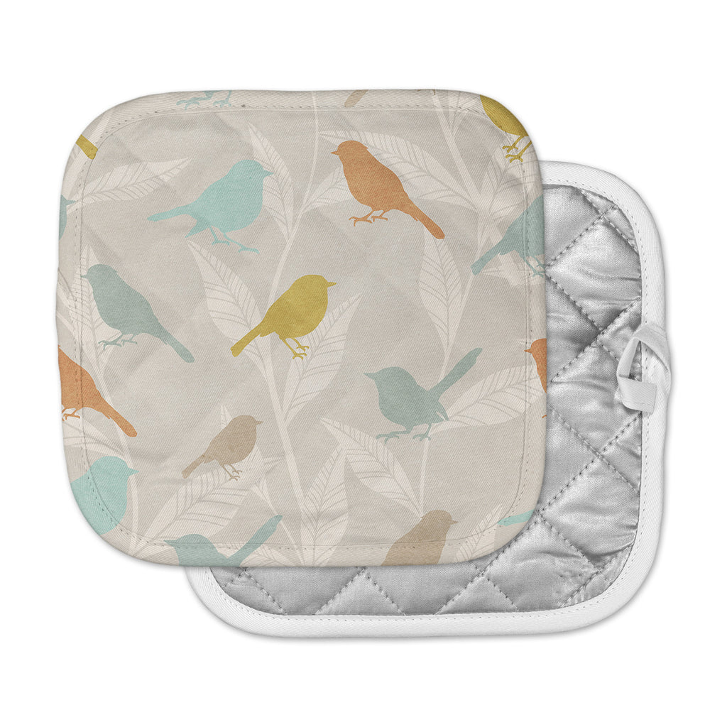"KESS Original ""Tweet"" Pastel Nature Pot Holder"
