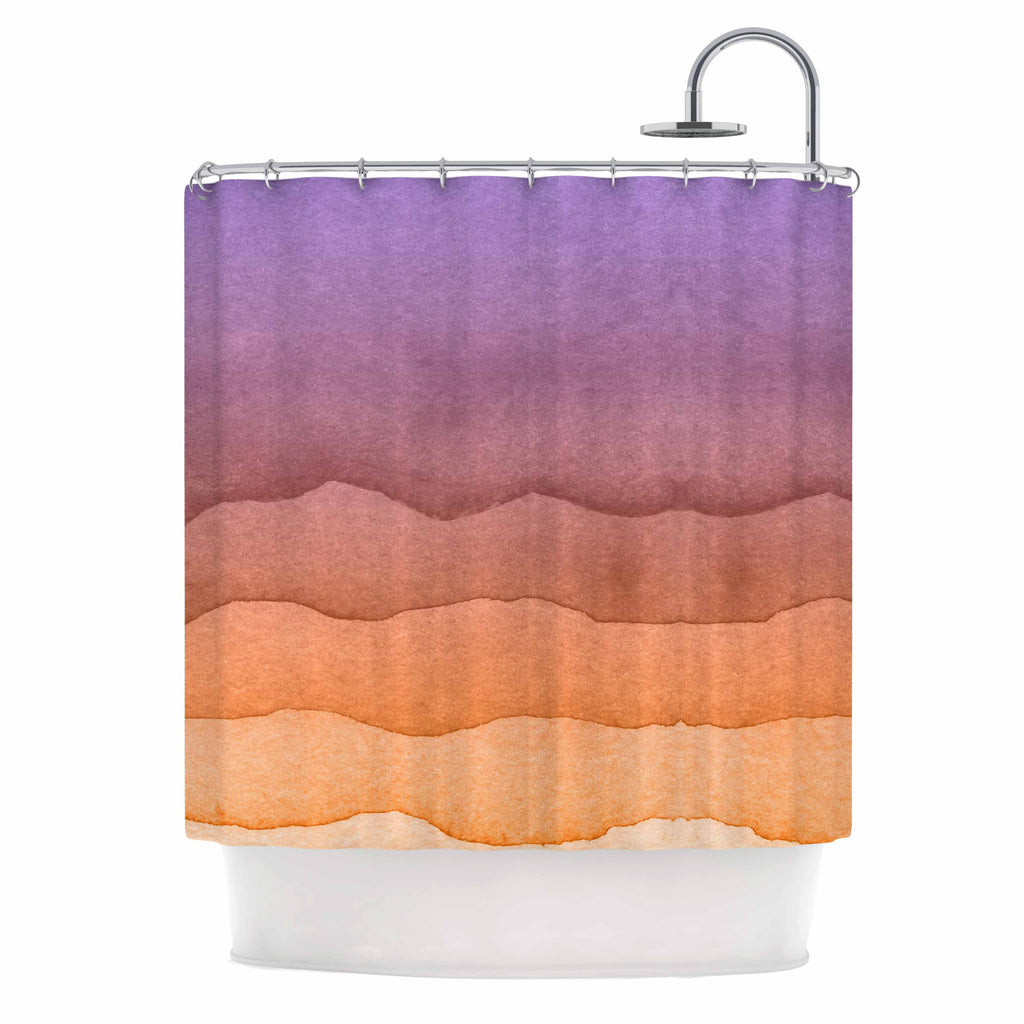 Charming Ombre Sunrise. By Kess Original. Shower Curtain