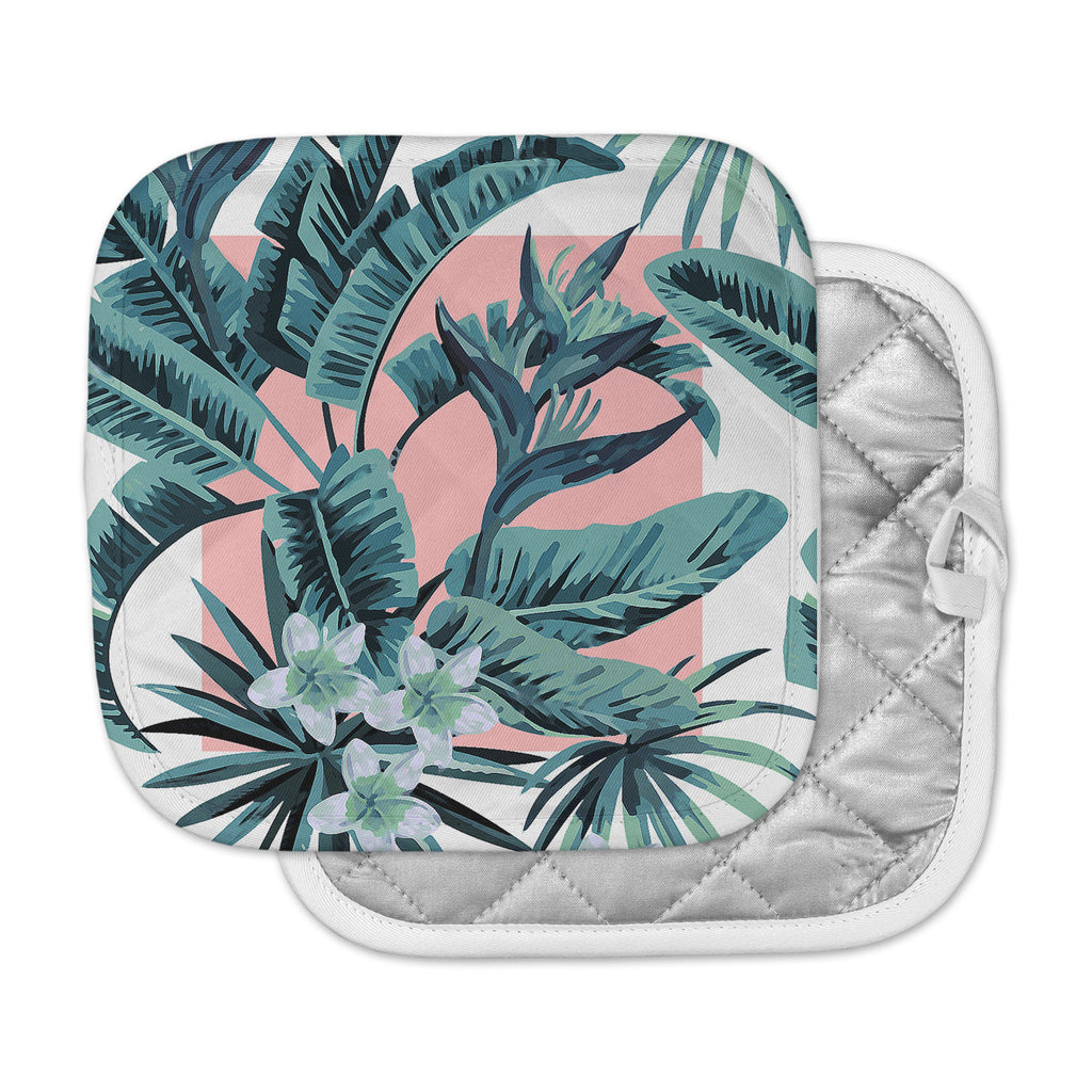 "Kess Original ""Monstera"" Nature Pop Art Pot Holder"