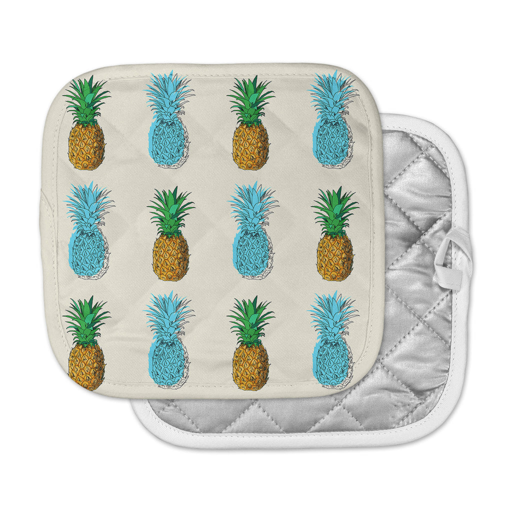 "Kess Original ""Fineapple"" Food Abstract Pot Holder"
