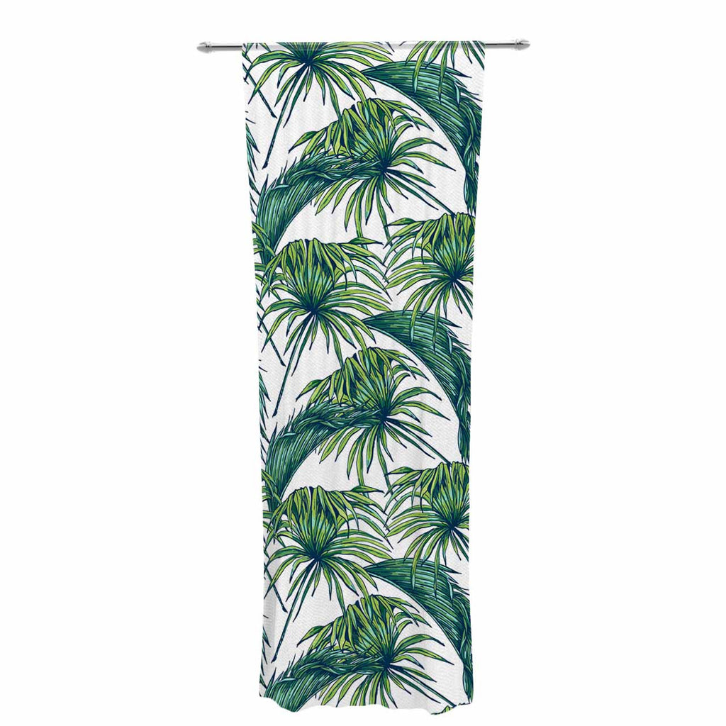 "Kess Original ""Palmtastic"" Green Nature Decorative Sheer Curtain - KESS InHouse  - 1"