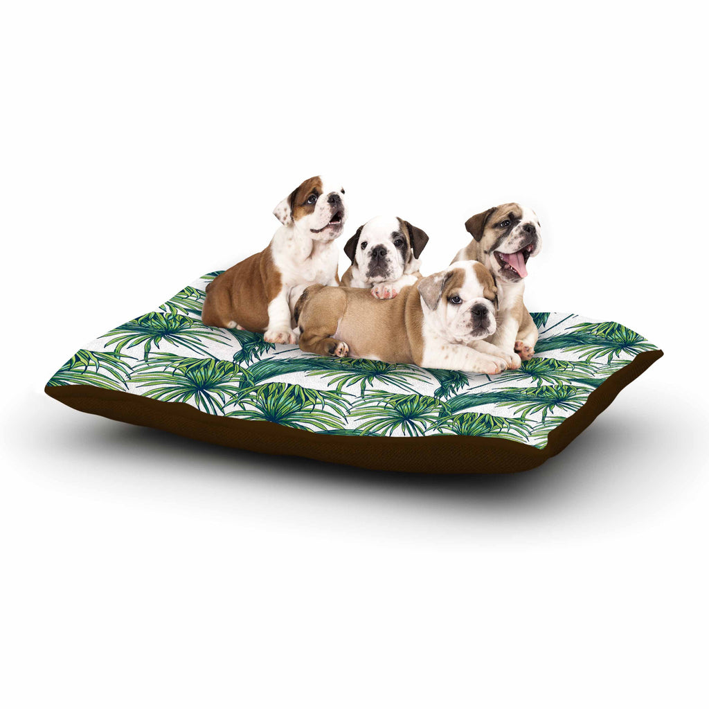 "Kess Original ""Palmtastic"" Green Nature Dog Bed - KESS InHouse  - 1"