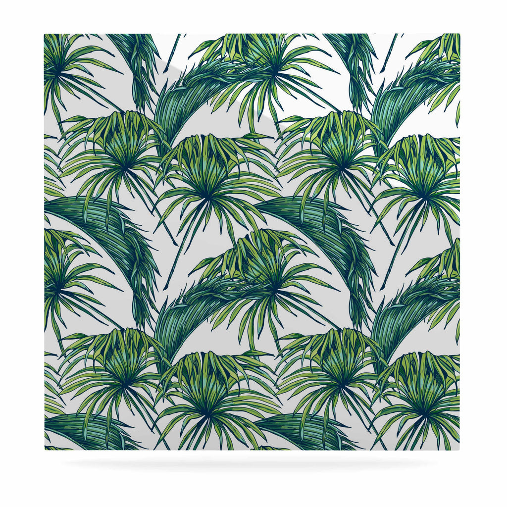"Kess Original ""Palmtastic"" Green Nature Luxe Square Panel - KESS InHouse  - 1"