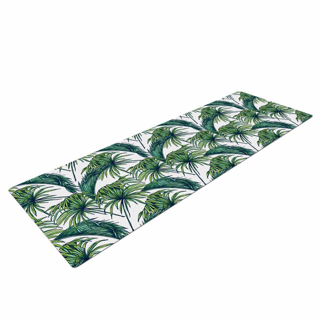 "Kess Original ""Palmtastic"" Green Nature Yoga Mat - KESS InHouse  - 1"