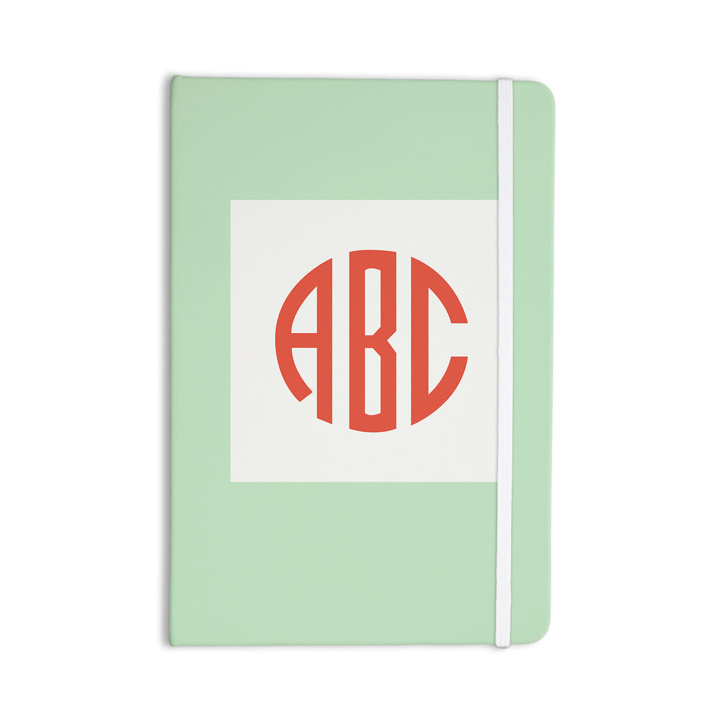 "Kess Original ""Classic Monogram Green "" Green Monogram Everything Notebook - KESS InHouse  - 1"