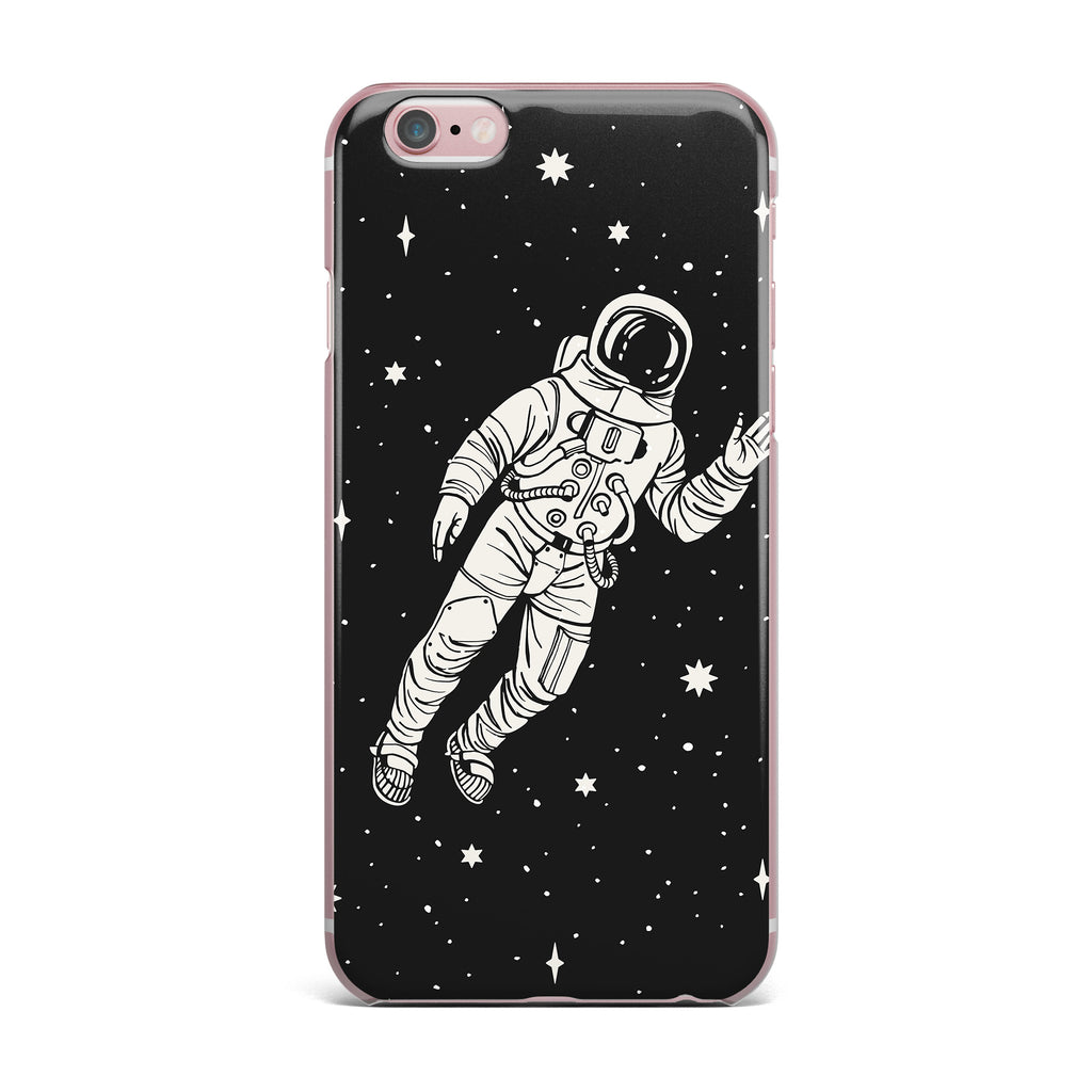 "Kess Original ""Space Adventurer"" Black Fantasy iPhone Case - KESS InHouse"