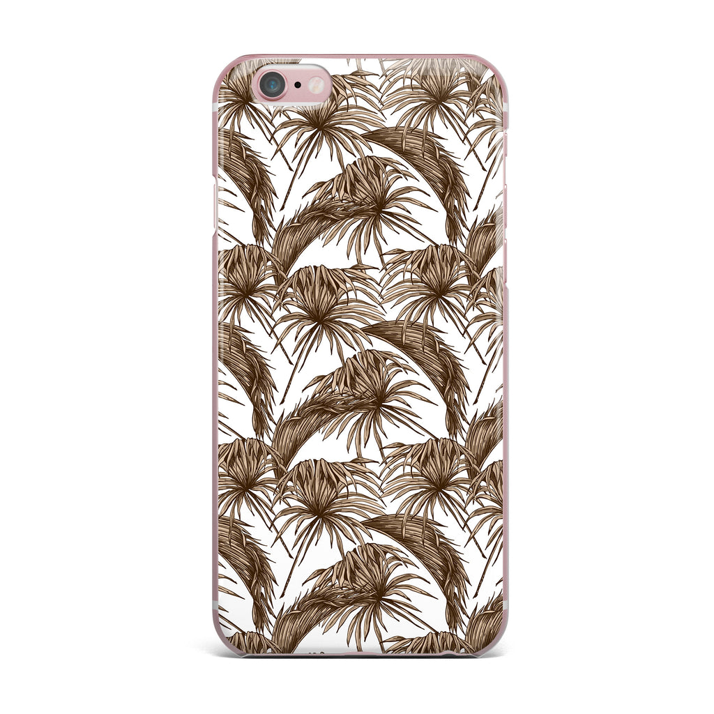 "Kess Original ""Palmtastic Tan"" Brown Abstract iPhone Case - KESS InHouse"