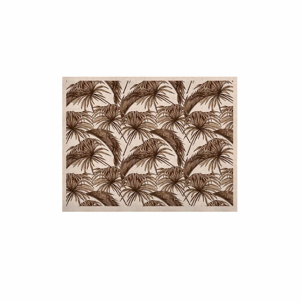 "Kess Original ""Palmtastic Tan"" Brown Abstract KESS Naturals Canvas (Frame not Included) - KESS InHouse  - 1"