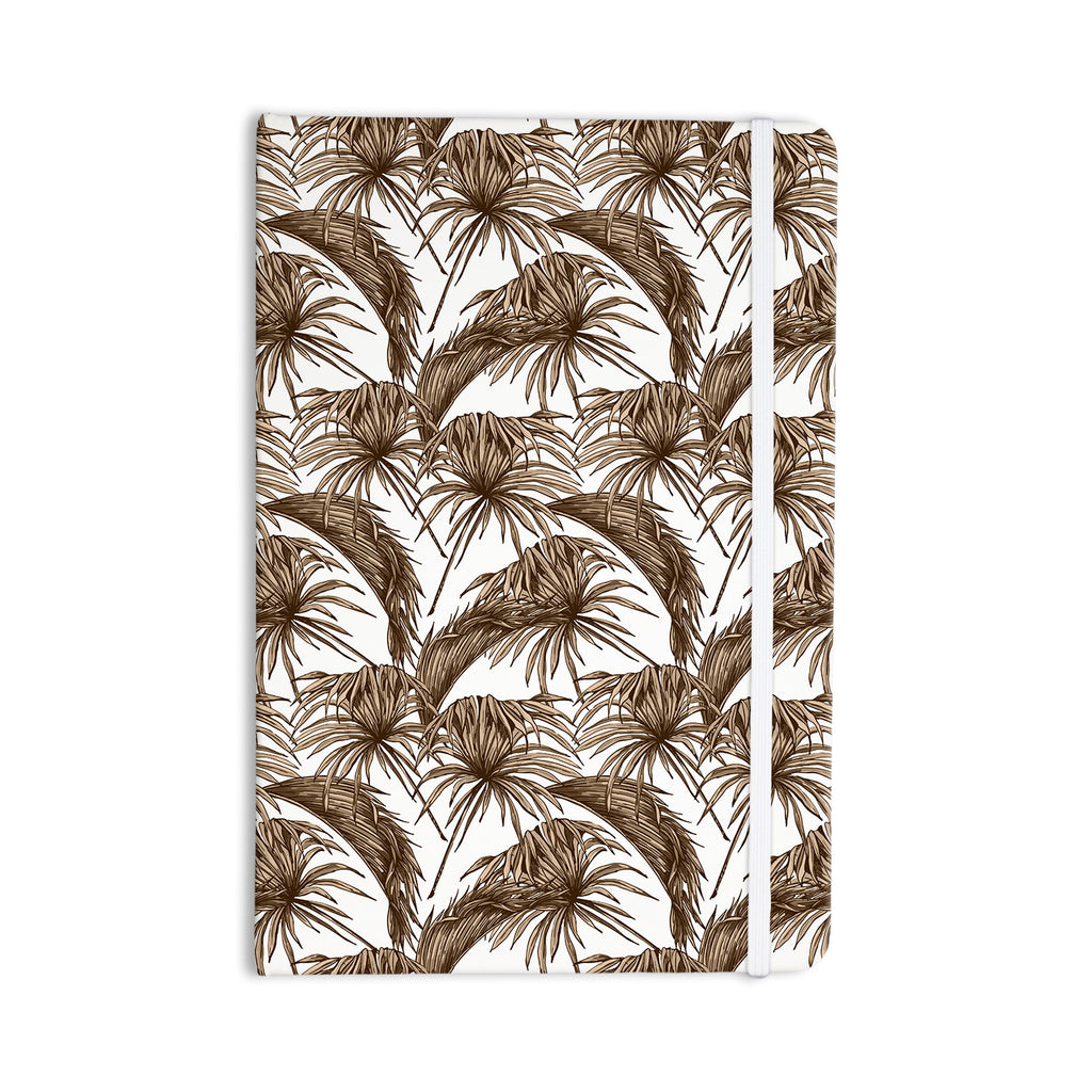 "Kess Original ""Palmtastic Tan"" Brown Abstract Everything Notebook - KESS InHouse  - 1"