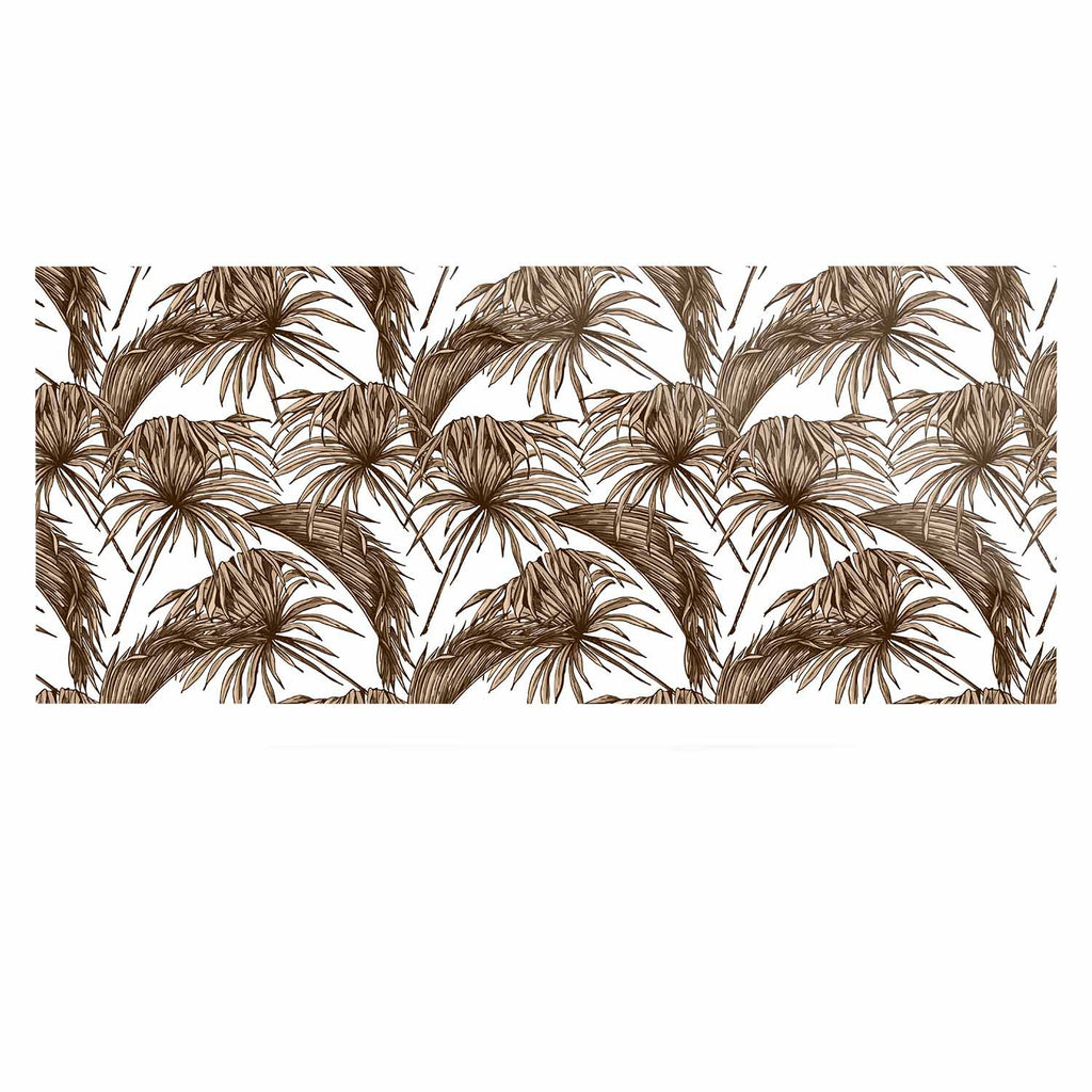 "Kess Original ""Palmtastic Tan"" Brown Abstract Luxe Rectangle Panel - KESS InHouse  - 1"