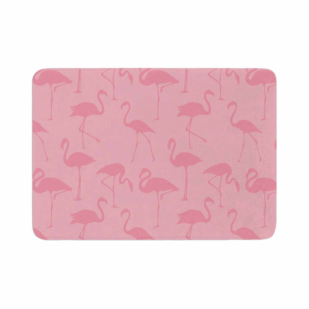 "Kess Original ""Pink On Pink"" Animals Abstract Memory Foam Bath Mat - KESS InHouse"