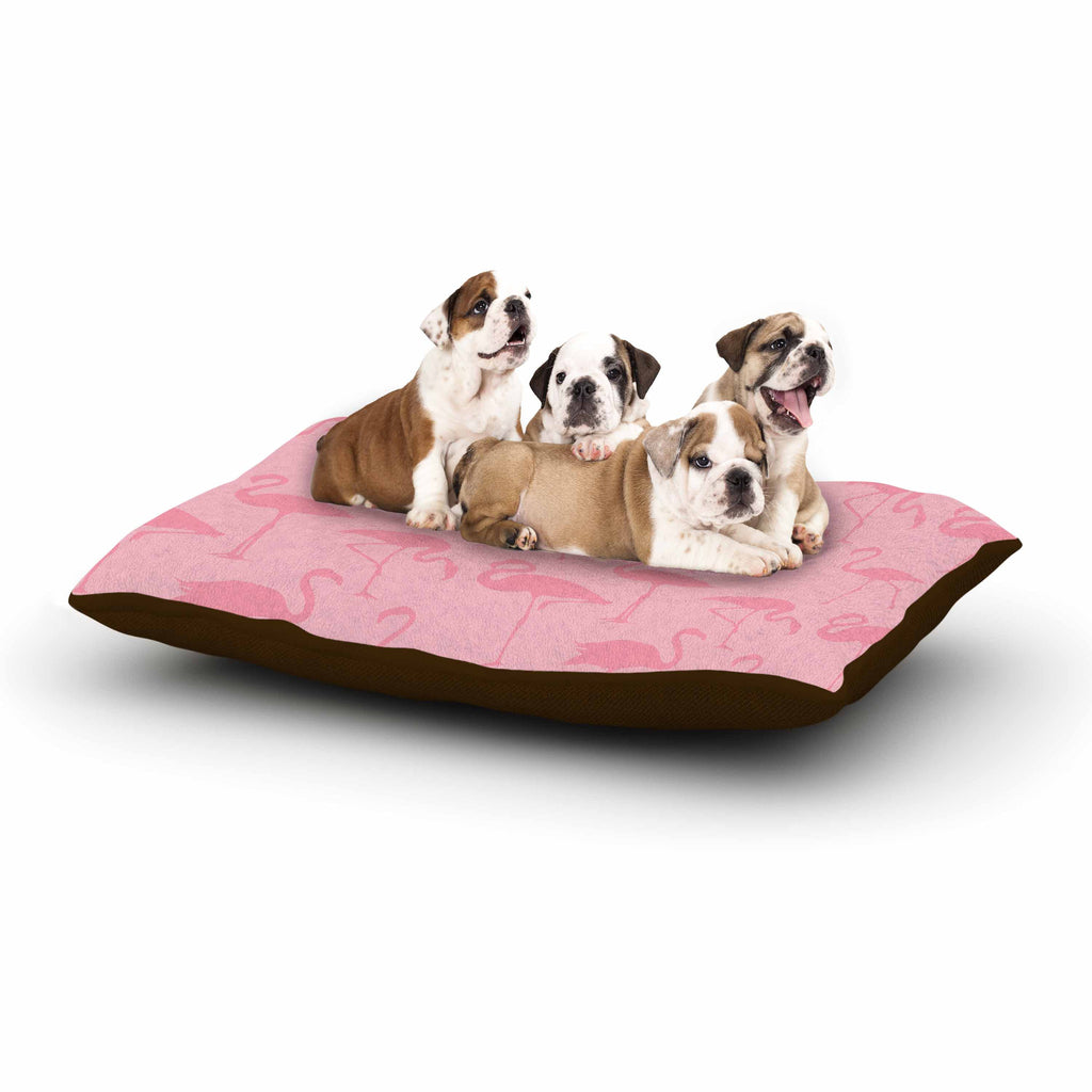 "Kess Original ""Pink On Pink"" Animals Abstract Dog Bed - KESS InHouse  - 1"