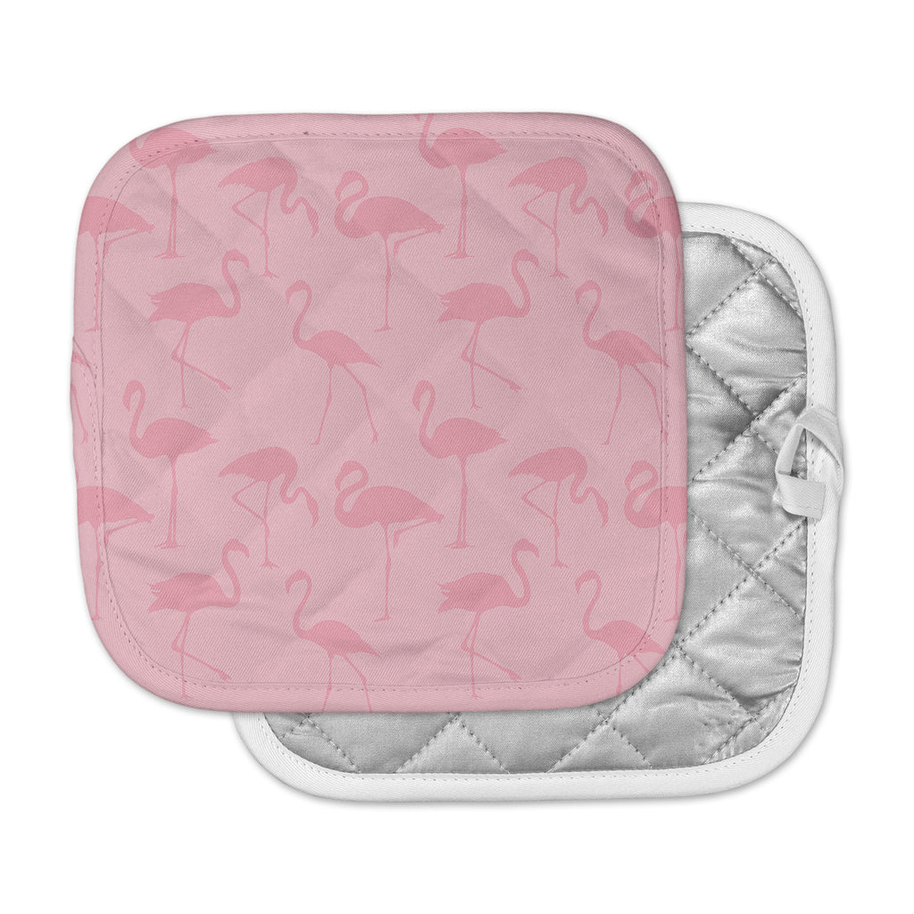 "Kess Original ""Pink On Pink"" Animals Abstract Pot Holder"