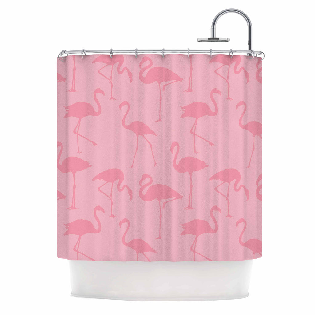"Kess Original ""Pink On Pink"" Animals Abstract Shower Curtain - KESS InHouse"
