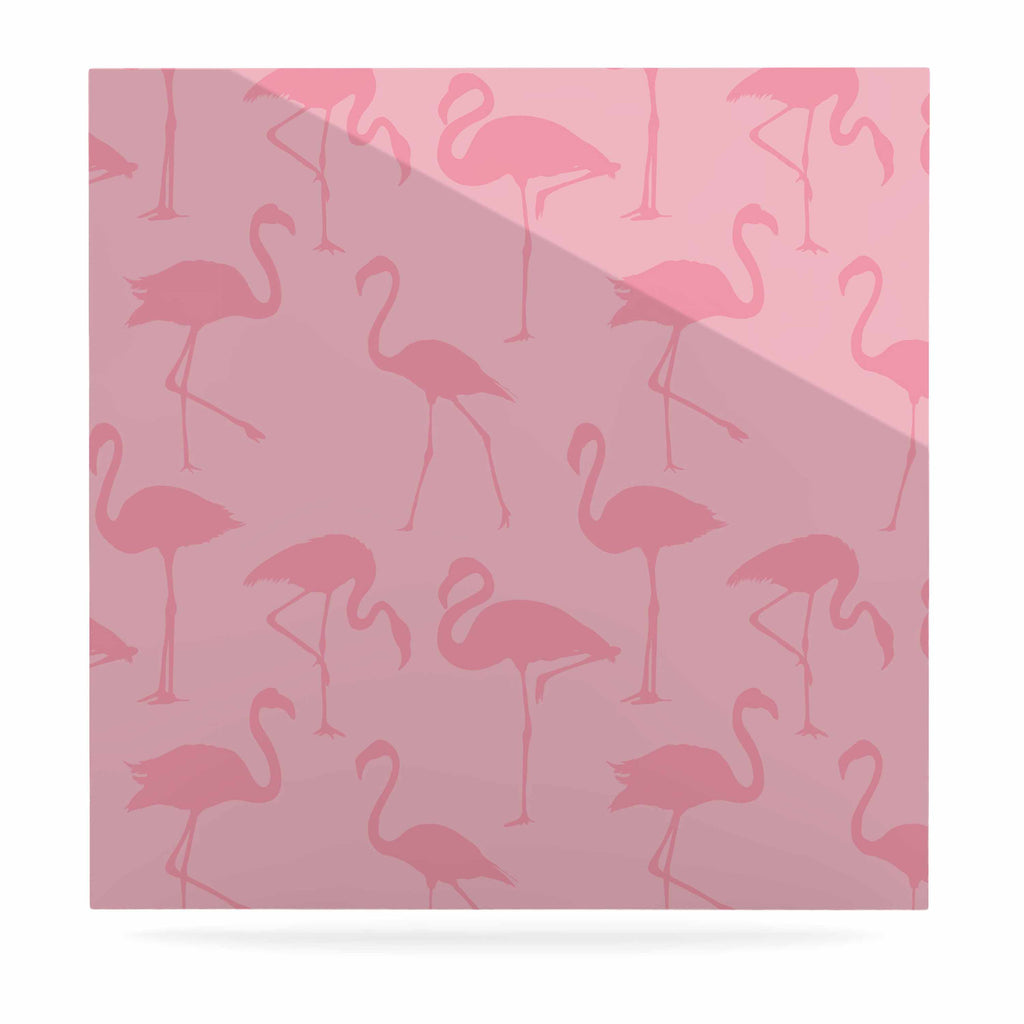 "Kess Original ""Pink On Pink"" Animals Abstract Luxe Square Panel - KESS InHouse  - 1"