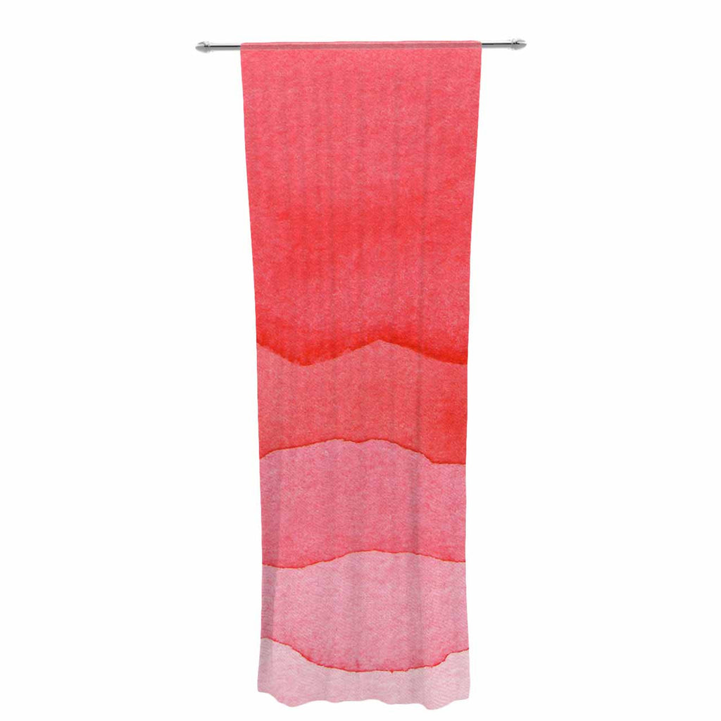 "Kess Original ""Ombre Cherries"" Pink Abstract Decorative Sheer Curtain - KESS InHouse  - 1"