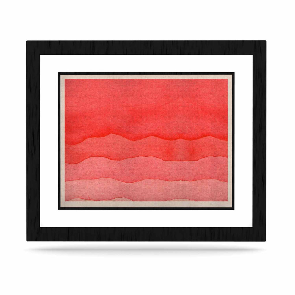 "Kess Original ""Ombre Cherries"" Pink Abstract KESS Naturals Canvas (Frame not Included) - KESS InHouse"