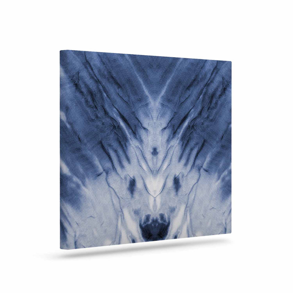 "Kess Original ""Blue Dye"" White Pattern Canvas Art - KESS InHouse  - 1"
