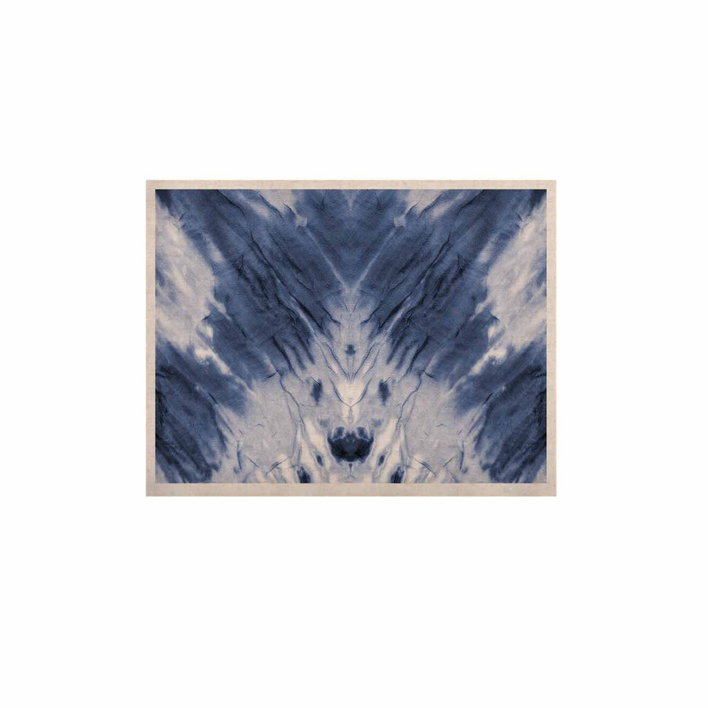 "Kess Original ""Blue Dye"" White Pattern KESS Naturals Canvas (Frame not Included) - KESS InHouse  - 1"