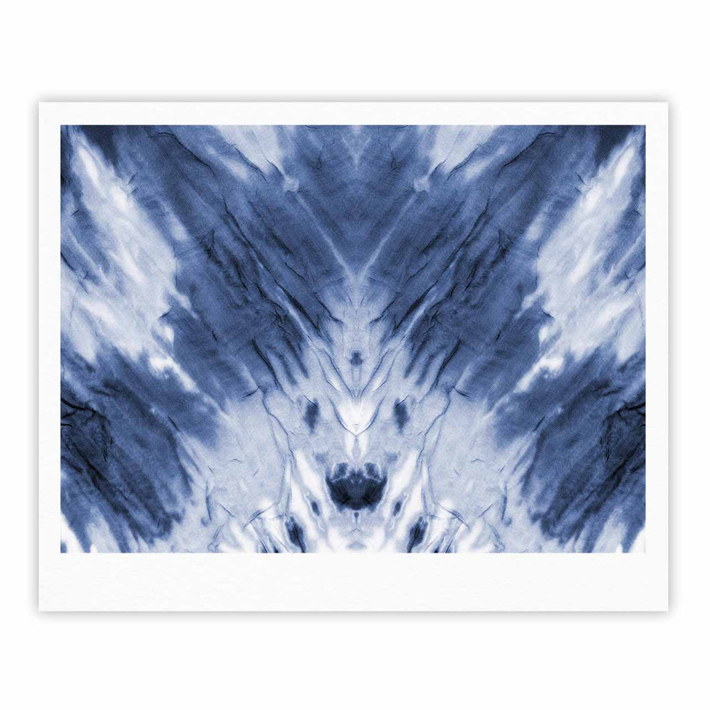 "Kess Original ""Blue Dye"" White Pattern Fine Art Gallery Print - KESS InHouse"