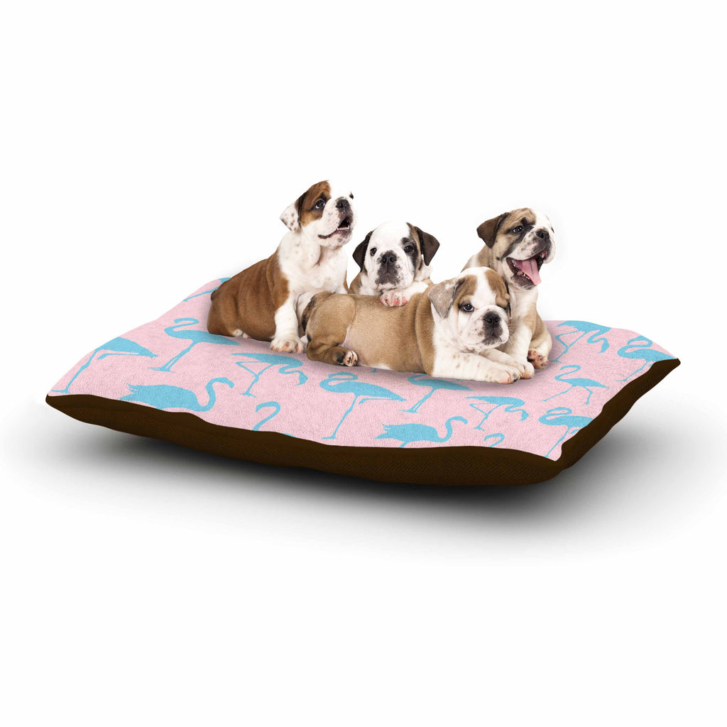 "Kess Original ""Blue On Pink"" Blue Animals Dog Bed - KESS InHouse  - 1"
