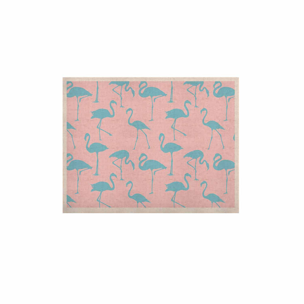 "Kess Original ""Blue On Pink"" Blue Animals KESS Naturals Canvas (Frame not Included) - KESS InHouse  - 1"
