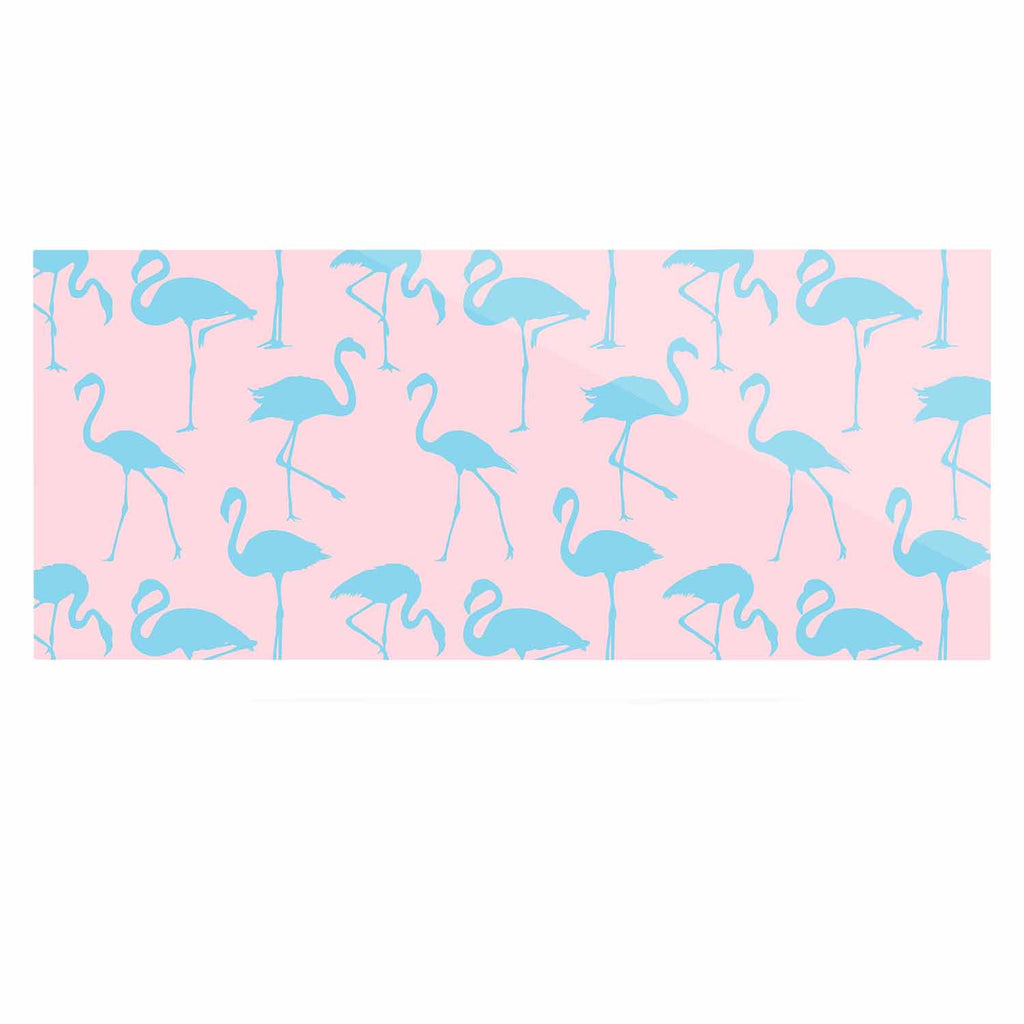 "Kess Original ""Blue On Pink"" Blue Animals Luxe Rectangle Panel - KESS InHouse  - 1"