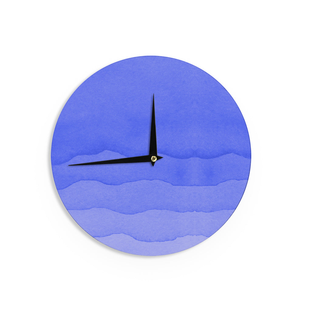 "Kess Original ""Ombre Berry"" Blue Digital Wall Clock - KESS InHouse"