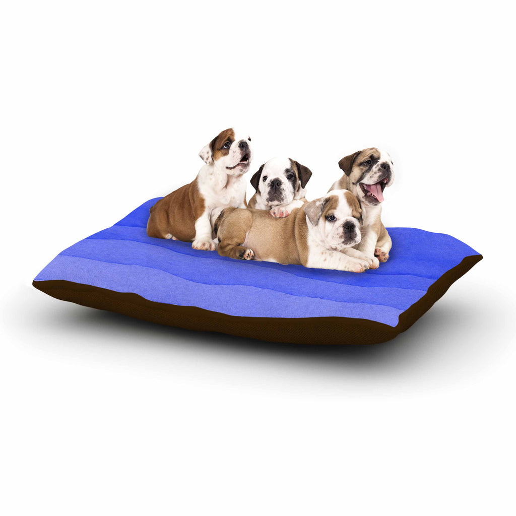 "Kess Original ""Ombre Berry"" Blue Digital Dog Bed - KESS InHouse  - 1"