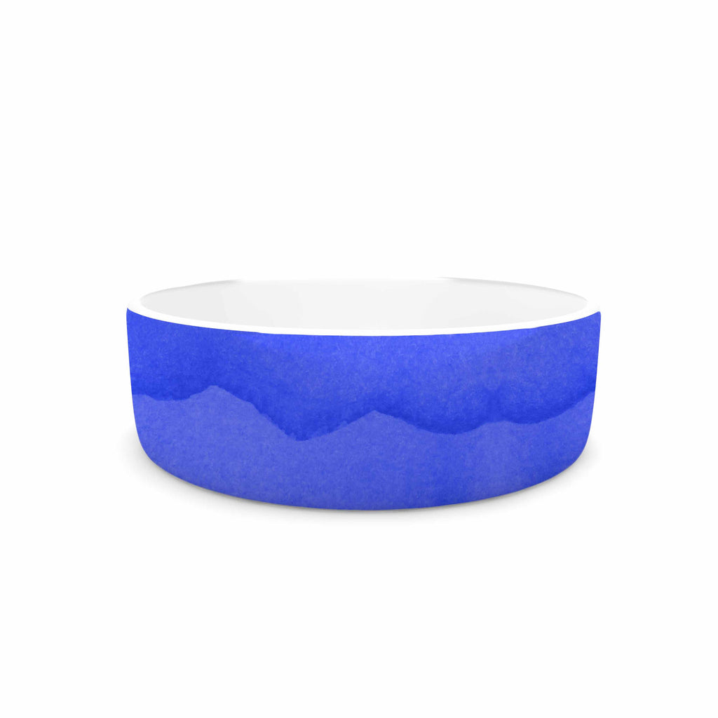 "Kess Original ""Ombre Berry"" Blue Digital Pet Bowl - KESS InHouse"