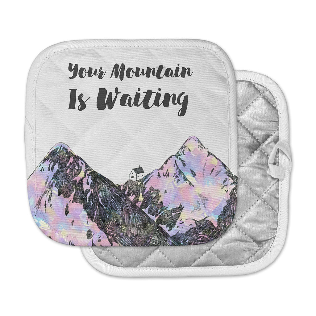 "Kess Original ""Your Mountain Is Waiting "" Pink Purple Pot Holder"