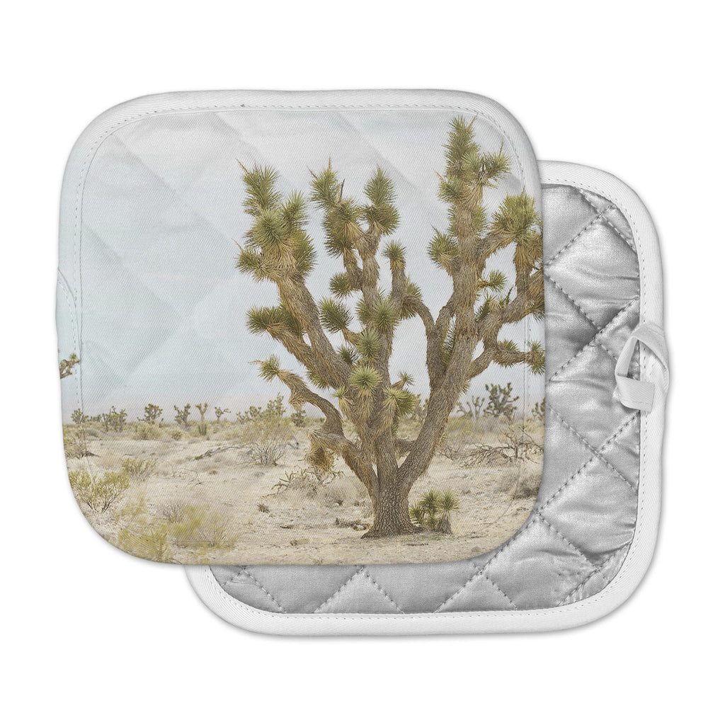 "Kristi Jackson ""Joshua Tree"" Brown Blue Photography Pot Holder"