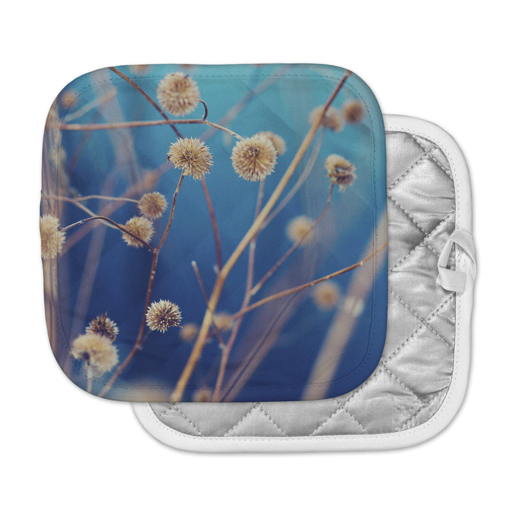 "Kristi Jackson ""Blue Serenity"" Blue Gold Photography Pot Holder"