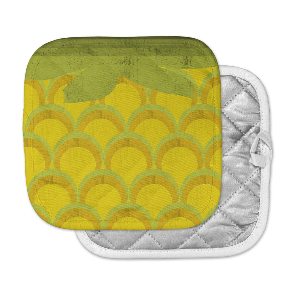 "Kathleen Kelly ""Pineapple"" Digital Food Pot Holder"