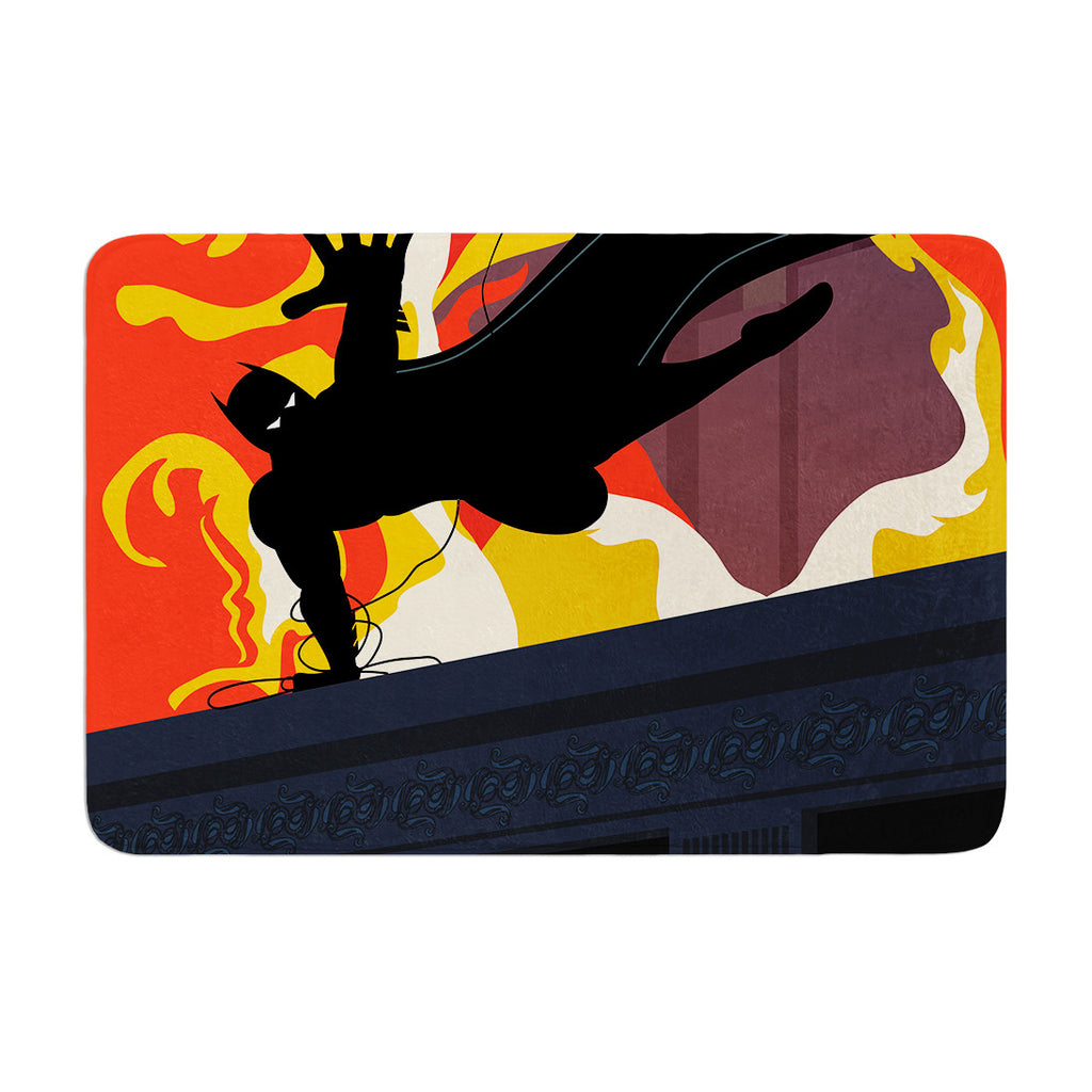 "Kevin Manley ""Prodigal Son"" Batman Fire Memory Foam Bath Mat - KESS InHouse"