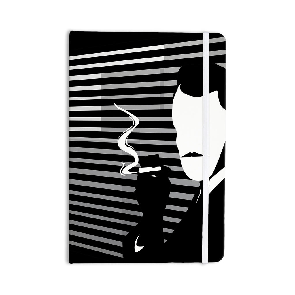 "Kevin Manley ""Vincent"" Black White Everything Notebook - KESS InHouse  - 1"